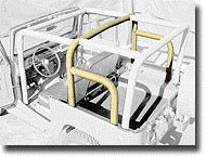 FJ40 TPI REAR FAMILY CAGE