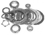 FJ40 KNUCKLE OVERHAUL KIT, DRUM BRAKE, PER KNUCKLE