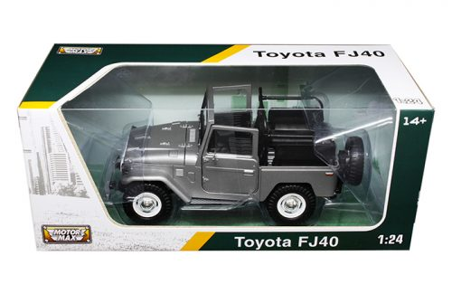 FJ40 TOY, 1/24 SCALE, SILVER CONVERTIBLE