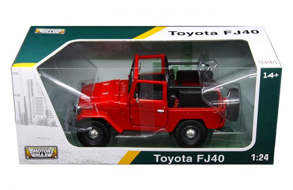 FJ40 TOY, 1/24 SCALE, RED CONVERTIBLE