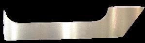 FJ40 FRONT DOOR LOWER ROCKER PANELS, SMOOTH