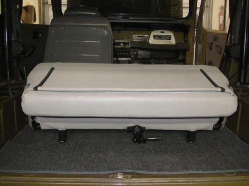 FJ40 FOLD & TUMBLE REAR SEAT, BLACK