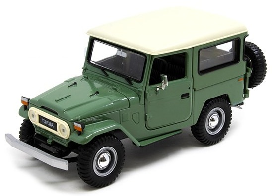 FJ40 TOY, 1/24 SCALE, GREEN