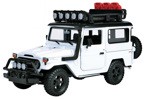 FJ40 TOY, 1/24 SCALE, WHITE SAFARI